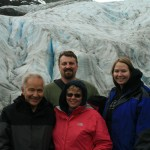 The four of us at the base of Exit Glacier