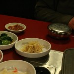And the customary Kimchi side dishes.