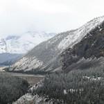 Jasper to Banff - Starting to Snow