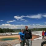 Yellowstone - Grand Prismatic Spring - Jason and Kara