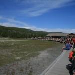 Yellowstone - Old Faithful - The Crowd Gathers