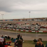 26 Cars line up for the Enduro race to start