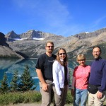 Jason, Kara, Patsy and Gene at Bow Lake