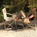 Kara, caught relaxing at Johnstone Creek