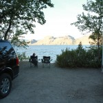 Our lakefront property for the night