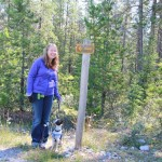 We all went for a walk down the trail to Jasper